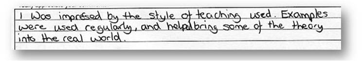 impressed style teaching examples regularly help bring theory real world