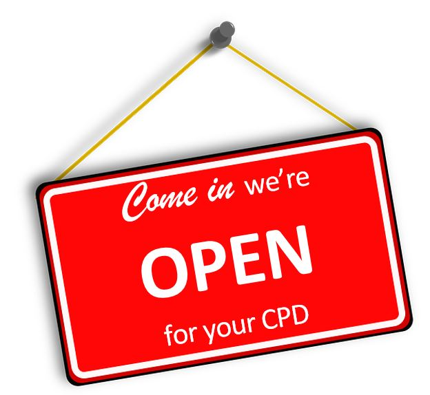 We're open for your CPD